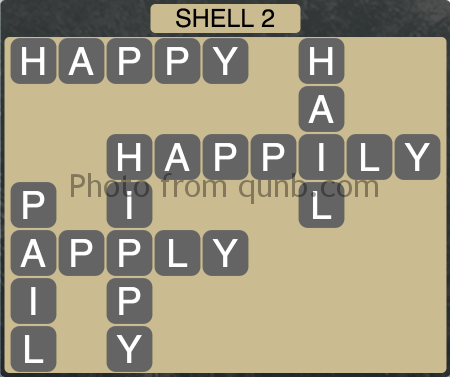 Wordscapes Shell 2 (Level 1218) Answers