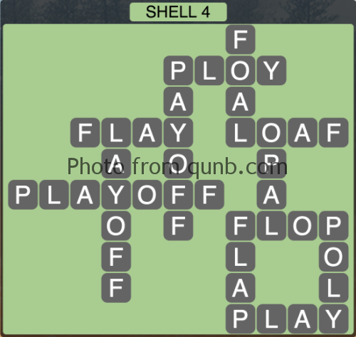 Wordscapes Shell 4 (Level 1220) Answers