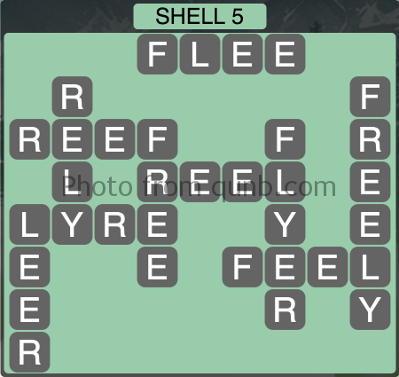 Wordscapes Shell 5 (Level 1221) Answers