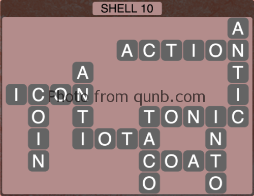 Wordscapes Shell 10 (Level 1226) Answers