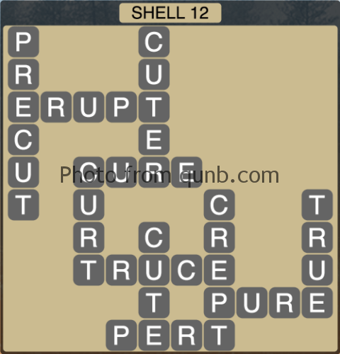 Wordscapes Shell 12 (Level 1228) Answers