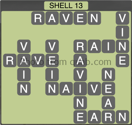 Wordscapes Shell 13 (Level 1229) Answers