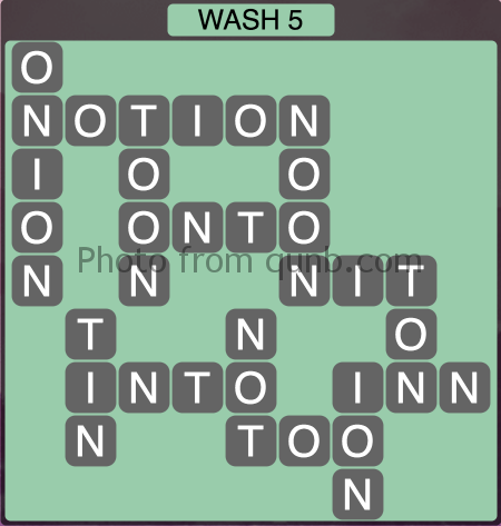 Wordscapes Wash 5 (Level 1237) Answers