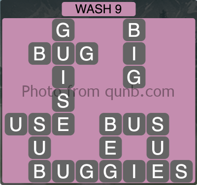 Wordscapes Wash 9 (Level 1241) Answers