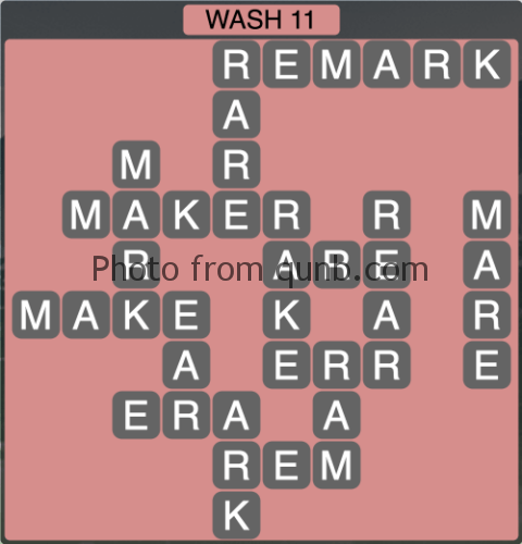 Wordscapes Wash 11 (Level 1243) Answers