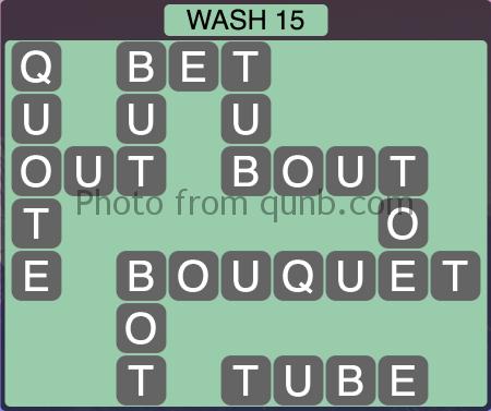Wordscapes Wash 15 (Level 1247) Answers