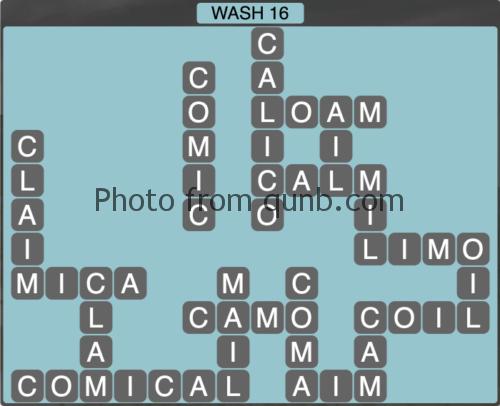 Wordscapes Wash 16 (Level 1248) Answers