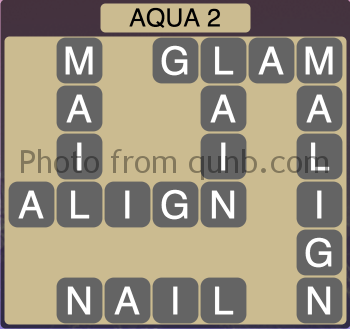 Wordscapes Aqua 2 (Level 1250) Answers