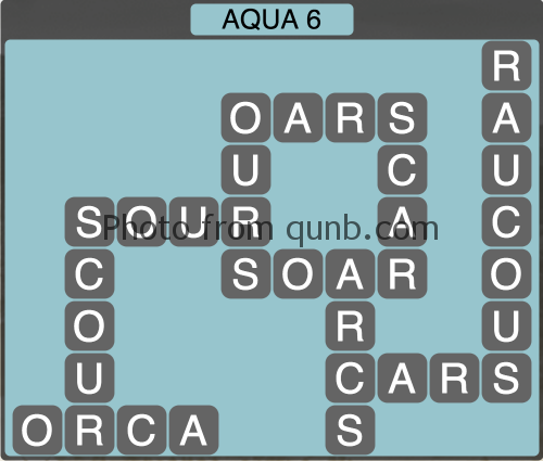 Wordscapes Aqua 6 (Level 1254) Answers