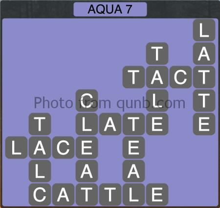 Wordscapes Aqua 7 (Level 1255) Answers