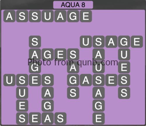 Wordscapes Aqua 8 (Level 1256) Answers