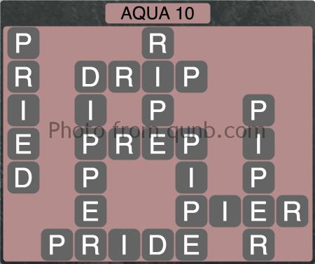 Wordscapes Aqua 10 (Level 1258) Answers