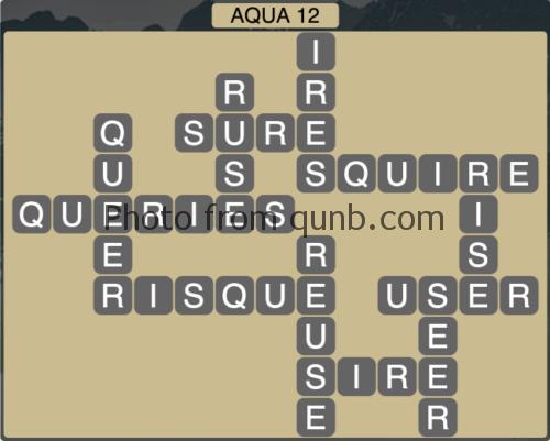 Wordscapes Aqua 12 (Level 1260) Answers