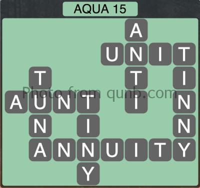 Wordscapes Aqua 15 (Level 1263) Answers