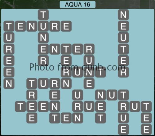 Wordscapes Aqua 16 (Level 1264) Answers