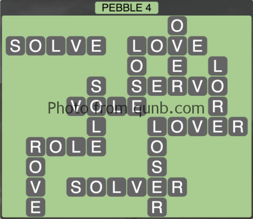 wordscapes Pebble 4 (Level 1268) Answers