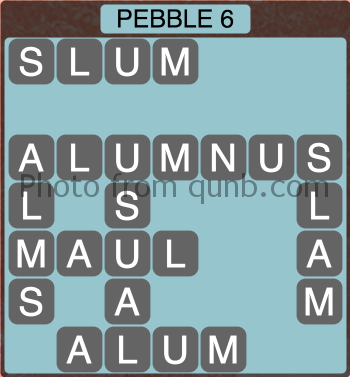 wordscapes Pebble 6 (Level 1270) Answers