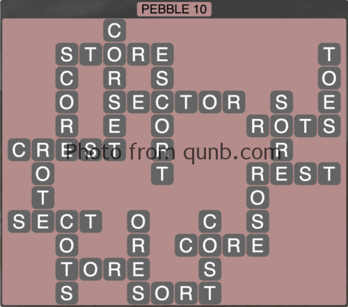 wordscapes Pebble 10 (Level 1274) Answers