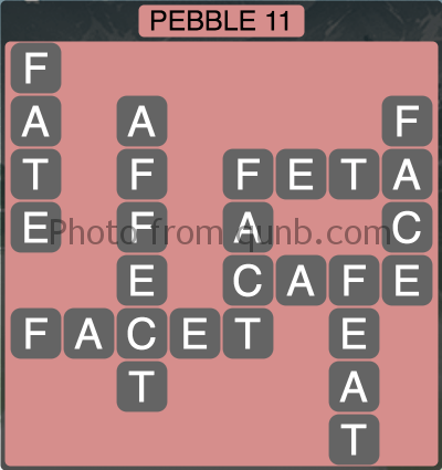 wordscapes Pebble 11 (Level 1275) Answers