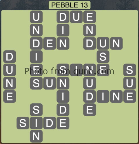 wordscapes Pebble 13 (Level 1277) Answers