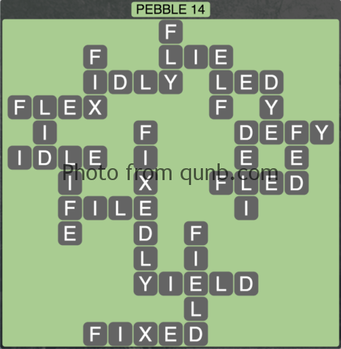 wordscapes Pebble 14 (Level 1278) Answers