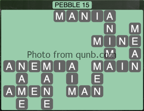 wordscapes Pebble 15 (Level 1279) Answers
