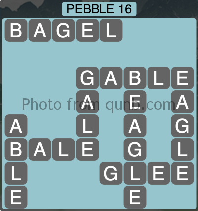 wordscapes Pebble 16 (Level 1280) Answers