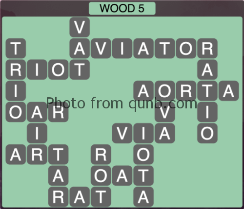 Wordscapes Wood 5 (Level 1285) Answers