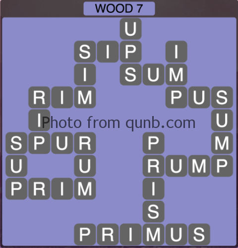 Wordscapes Wood 7 (Level 1287) Answers