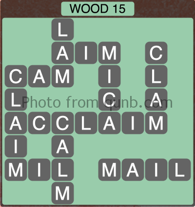 Wordscapes Wood 15 (Level 1295) Answers