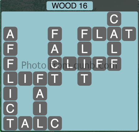 Wordscapes Wood 16 (Level 1296) Answers