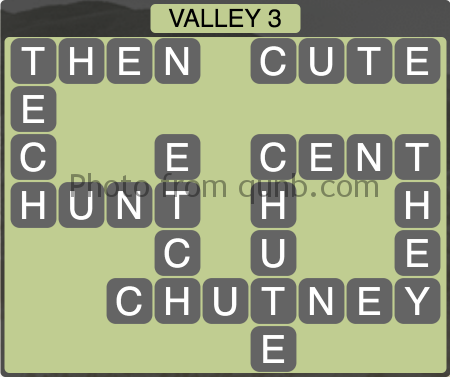 Wordscapes Valley 3 (Level 1299) Answers