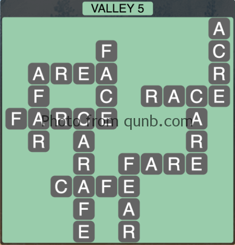 Wordscapes Valley 5 (Level 1301) Answers