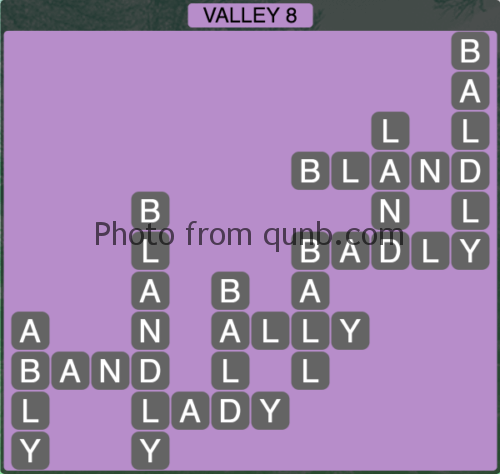 Wordscapes Valley 8 (Level 1304) Answers