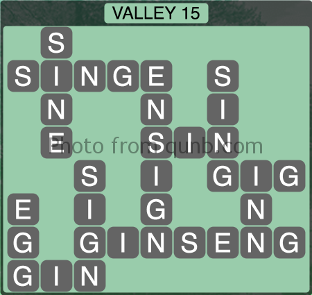 Wordscapes Valley 15 (Level 1311) Answers
