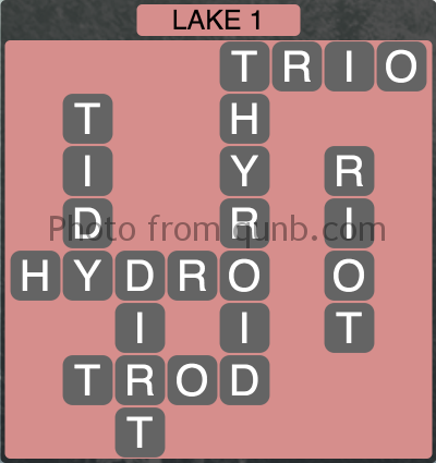 Wordscapes Lake 1 (Level 1313) Answers
