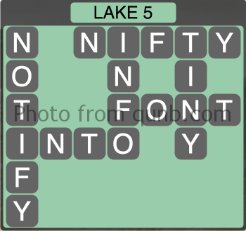 Wordscapes Lake 5 (Level 1317) Answers