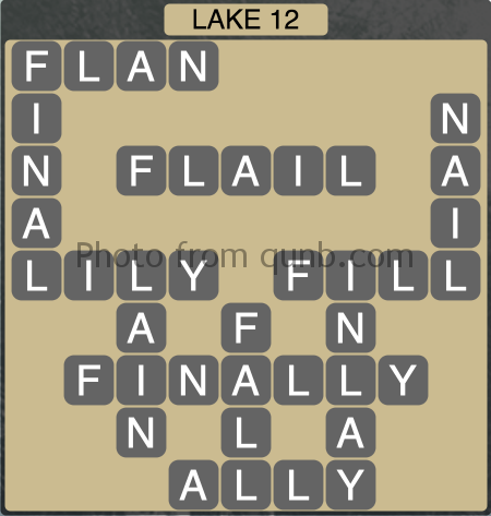 Wordscapes Lake 12 (Level 1324) Answers