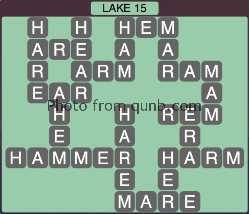 Wordscapes Lake 15 (Level 1327) Answers