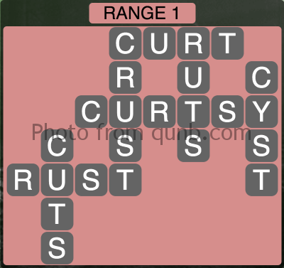 Wordscapes Range 1 (Level 1329) Answers