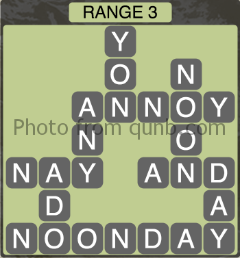Wordscapes Range 3 (Level 1331) Answers
