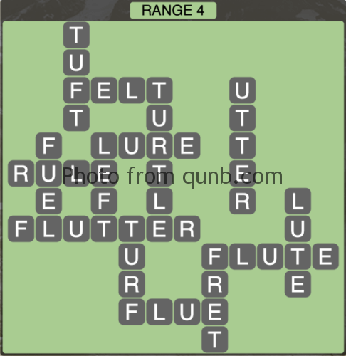 Wordscapes Range 4 (Level 1332) Answers