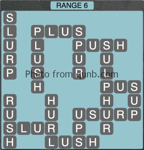 Wordscapes Range 6 (Level 1334) Answers