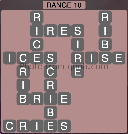 Wordscapes Range 10 (Level 1338) Answers