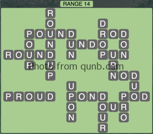 Wordscapes Range 14 (Level 1342) Answers