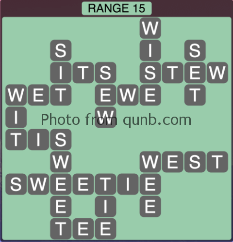 Wordscapes Range 15 (Level 1343) Answers