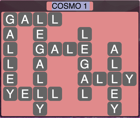 Wordscapes Cosmo 1 (Level 1361) Answers