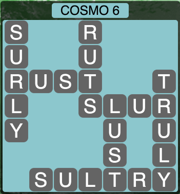 Wordscapes Cosmo 6 (Level 1366) Answers