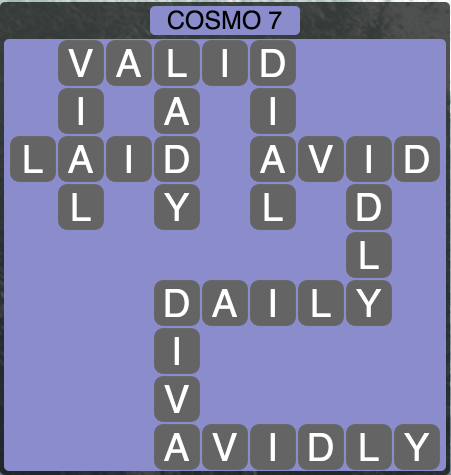 Wordscapes Cosmo 7 (Level 1367) Answers