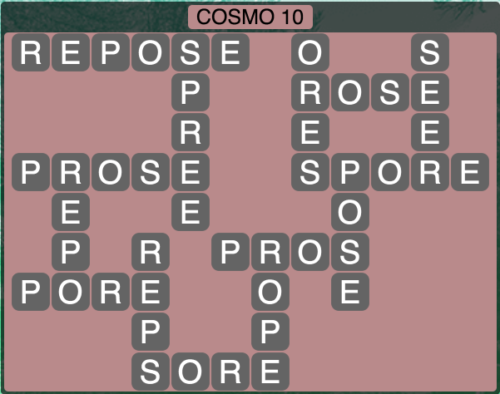 Wordscapes Cosmo 10 (Level 1370) Answers